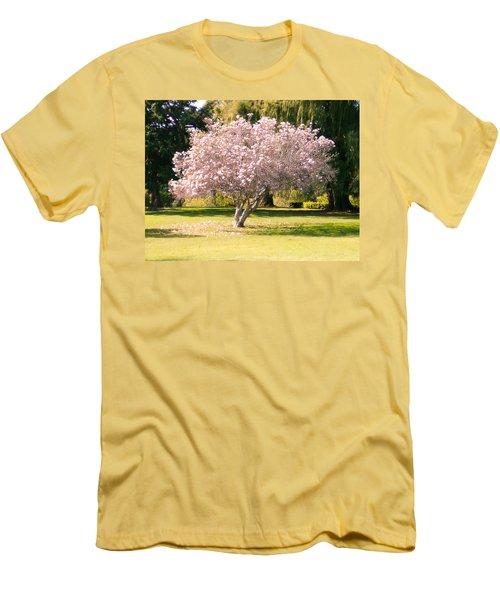 Flowering Tree Men's T-Shirt (Slim Fit) by Mark Barclay