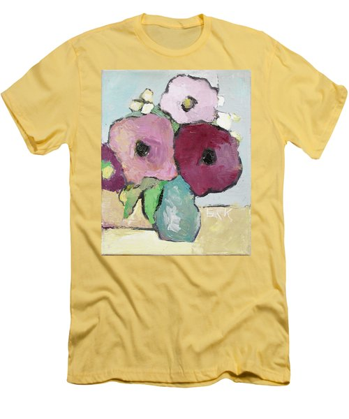 Flowers 1601 Men's T-Shirt (Slim Fit) by Becky Kim