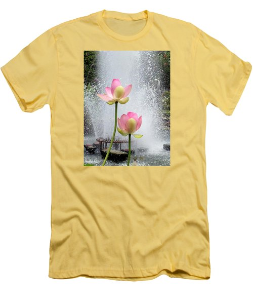 Flowers And Fountains Men's T-Shirt (Athletic Fit)