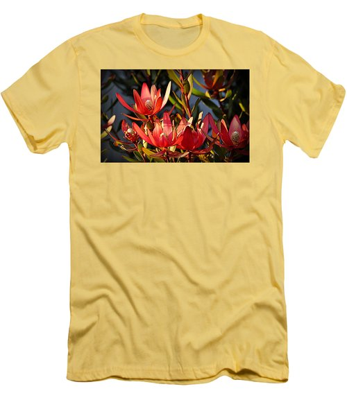 Men's T-Shirt (Athletic Fit) featuring the photograph Flowers At Sunset by AJ Schibig
