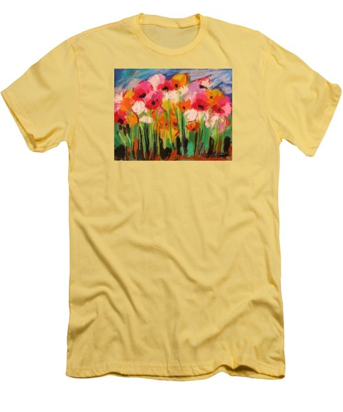 Men's T-Shirt (Slim Fit) featuring the painting Flowers by John Williams
