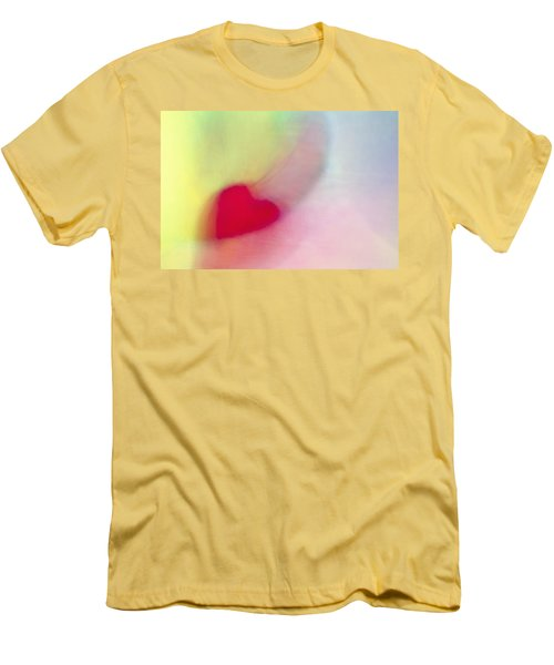 Flying Red Heart Men's T-Shirt (Slim Fit) by Susan Stone