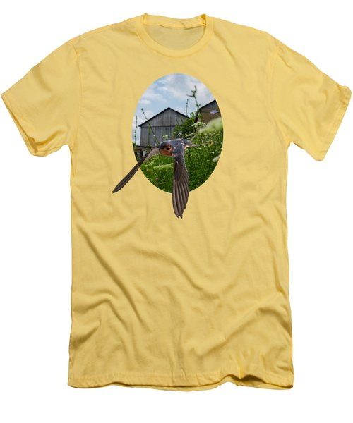 Flying Through The Farm Men's T-Shirt (Slim Fit) by Jan M Holden