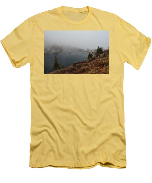 Foggy Liberty Lake Men's T-Shirt (Slim Fit) by Jenessa Rahn