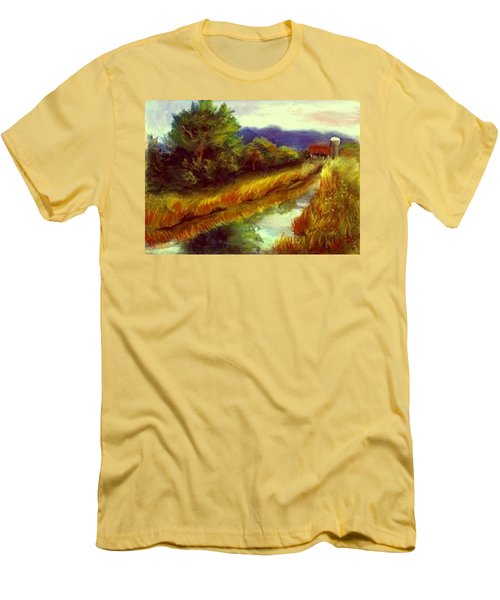 Men's T-Shirt (Slim Fit) featuring the painting For A Thirsty Land by Gail Kirtz