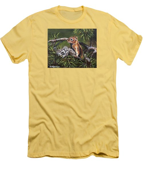 Forest Friend Men's T-Shirt (Slim Fit) by Kim Lockman
