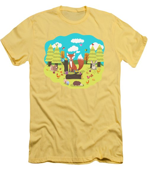 Forest Friends Fall Frolic Men's T-Shirt (Athletic Fit)