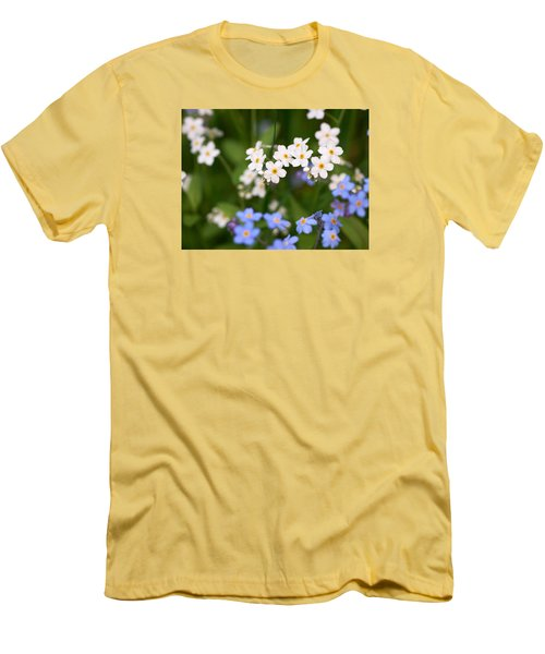 Forget Me Nots Men's T-Shirt (Slim Fit) by Jouko Lehto