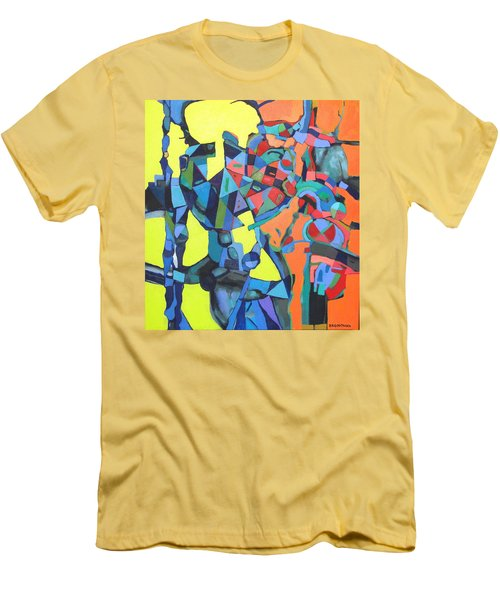 Men's T-Shirt (Slim Fit) featuring the painting Forgotten Memories Of Broken Promises by Bernard Goodman