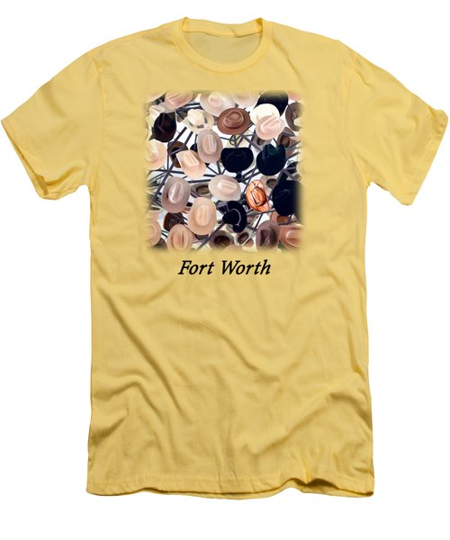 Fort Worth Hats T-shirt Men's T-Shirt (Athletic Fit)