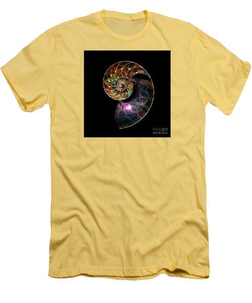 Fossilized Nautilus Shell Men's T-Shirt (Slim Fit) by Klara Acel