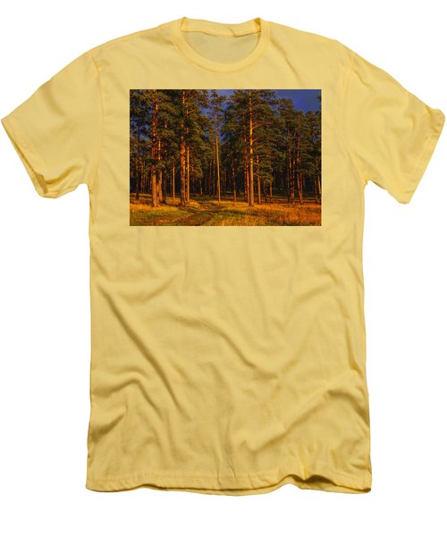 Forest After Rain Storm Men's T-Shirt (Athletic Fit)
