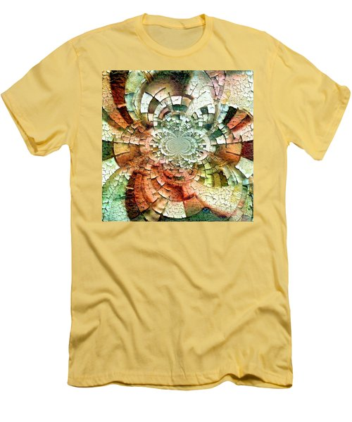 Fractal Abstract Men's T-Shirt (Athletic Fit)