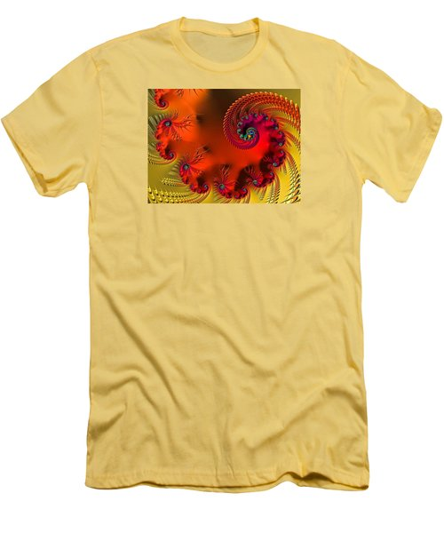Fractal Art - Breath Of The Dragon Men's T-Shirt (Slim Fit) by HH Photography of Florida