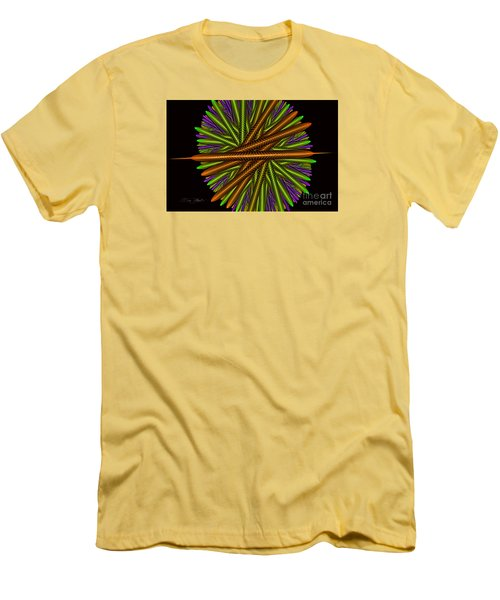 Fractal Feathers Men's T-Shirt (Slim Fit) by Melissa Messick
