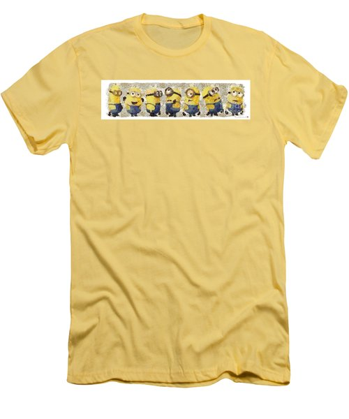 Fragmented And Still In Awe Congratulations Minions Men's T-Shirt (Athletic Fit)