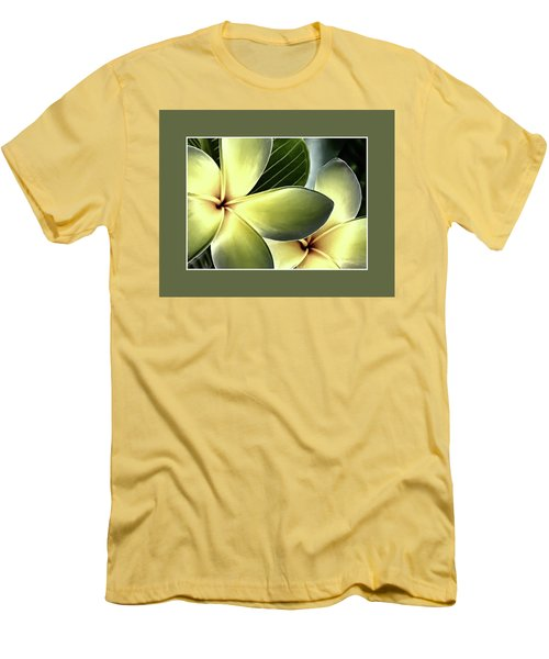 Frangipani - Plumeria Men's T-Shirt (Athletic Fit)