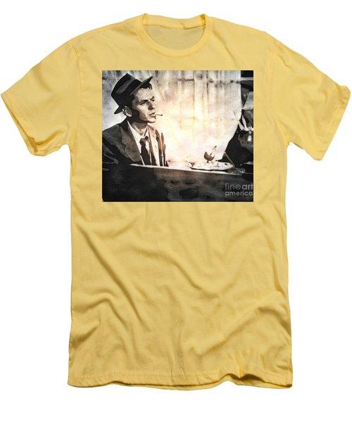 Frank Sinatra - Vintage Painting Men's T-Shirt (Slim Fit) by Ian Gledhill