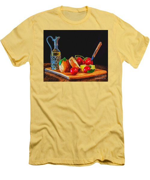 Fresh Appetizers - Painting Men's T-Shirt (Athletic Fit)