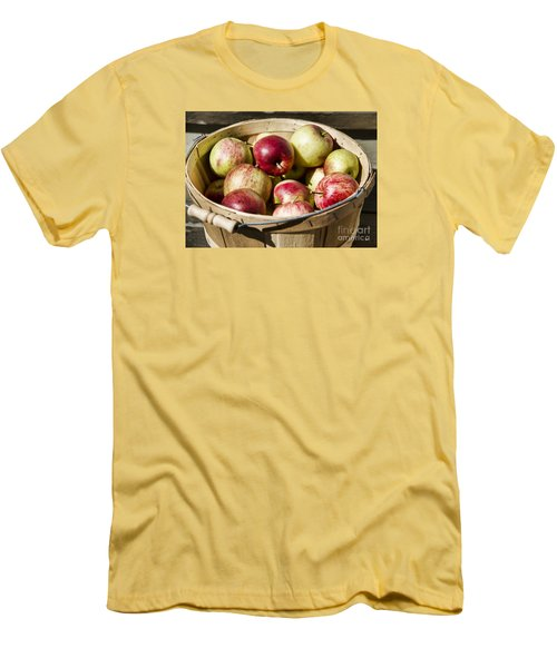 Men's T-Shirt (Slim Fit) featuring the photograph Fresh Apples by Alana Ranney