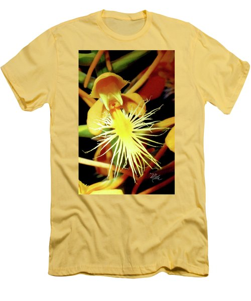 Fringed Yellow Orchid Men's T-Shirt (Slim Fit) by Meta Gatschenberger