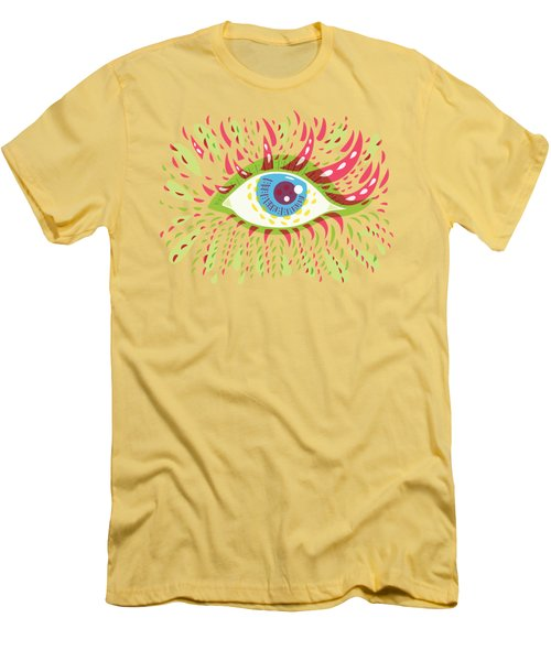 From Looking Psychedelic Eye Men's T-Shirt (Athletic Fit)