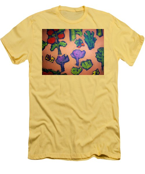 Men's T-Shirt (Slim Fit) featuring the painting From The Earth by Winsome Gunning
