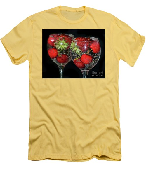 Men's T-Shirt (Slim Fit) featuring the photograph Fruits In Glass by Elvira Ladocki