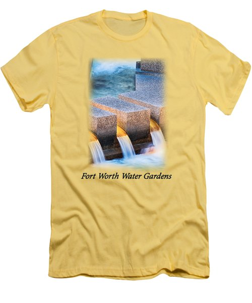Ft. Worth Water Garden Falls T-shirt Men's T-Shirt (Athletic Fit)