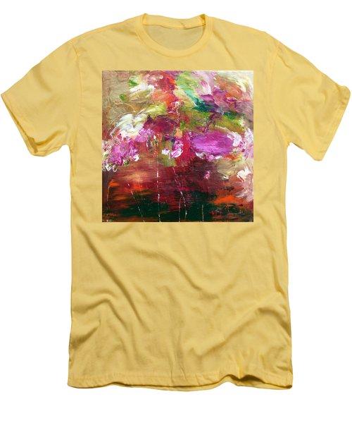 Fuchsia Burst Men's T-Shirt (Athletic Fit)
