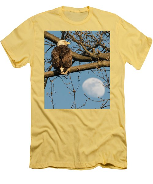 Full Moon Eagle  Men's T-Shirt (Athletic Fit)