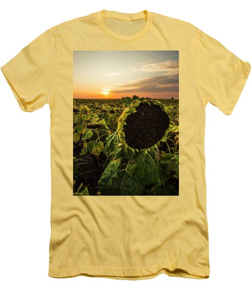 Men's T-Shirt (Athletic Fit) featuring the photograph Full Of Seed  by Aaron J Groen