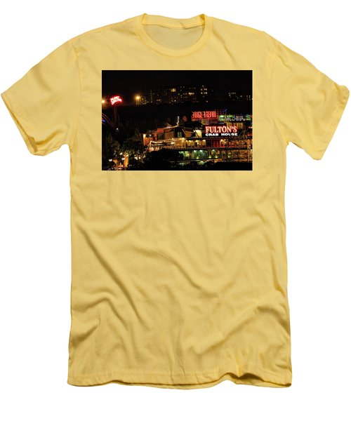 Fultons At Epcot Men's T-Shirt (Slim Fit) by Pat Cook
