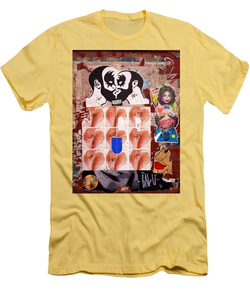 Funky New York Street Art  Men's T-Shirt (Athletic Fit)