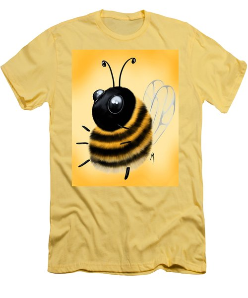 Men's T-Shirt (Slim Fit) featuring the painting Funny Bee by Veronica Minozzi