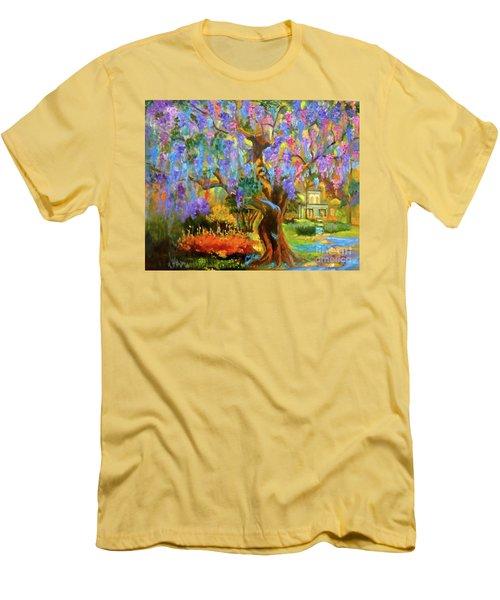 Garden Pathway Men's T-Shirt (Slim Fit) by Jenny Lee