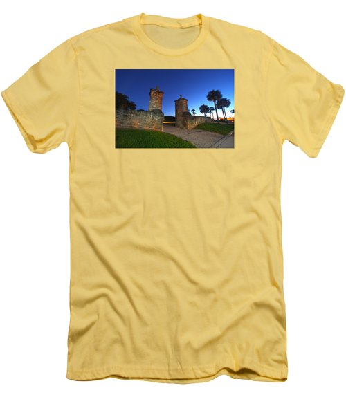 Gates Of The City Men's T-Shirt (Slim Fit) by Robert Och