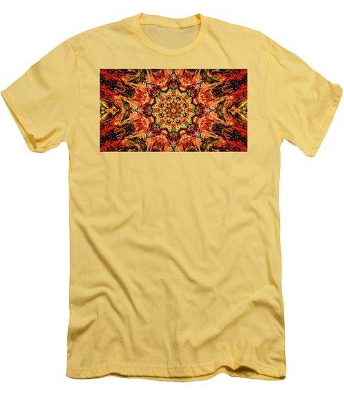 Gem Pattern Men's T-Shirt (Athletic Fit)