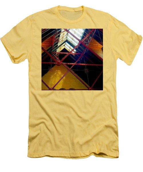 Geometric And Suns  Men's T-Shirt (Slim Fit)