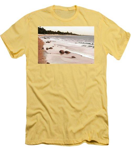 Georgian Bay Beach Men's T-Shirt (Athletic Fit)