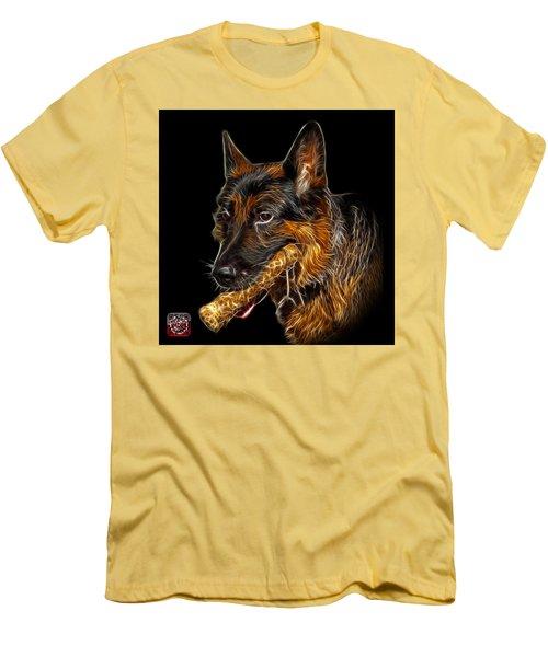 German Shepherd And Toy - 0745 F Men's T-Shirt (Slim Fit) by James Ahn