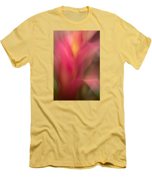 Ginger Flower Blossom Abstract Men's T-Shirt (Slim Fit) by Catherine Lau