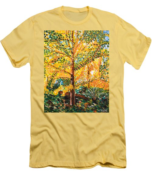 Gingko Tree Men's T-Shirt (Athletic Fit)