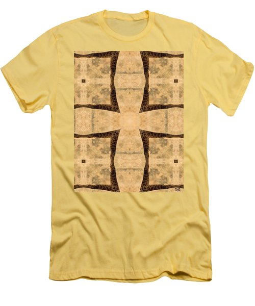 Giraffe Cross Men's T-Shirt (Slim Fit) by Maria Watt