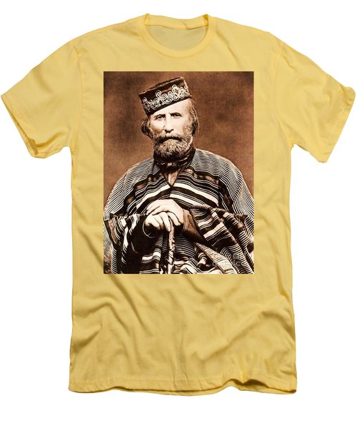 Men's T-Shirt (Slim Fit) featuring the photograph Giuseppe Garibaldi by Roberto Prusso