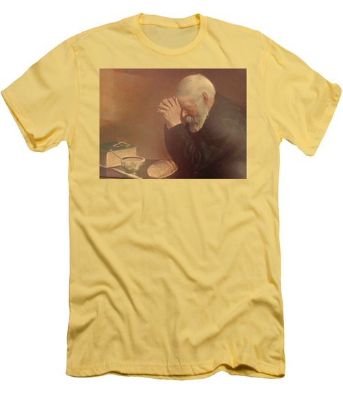 Give Us This Day Men's T-Shirt (Slim Fit) by Tina M Wenger