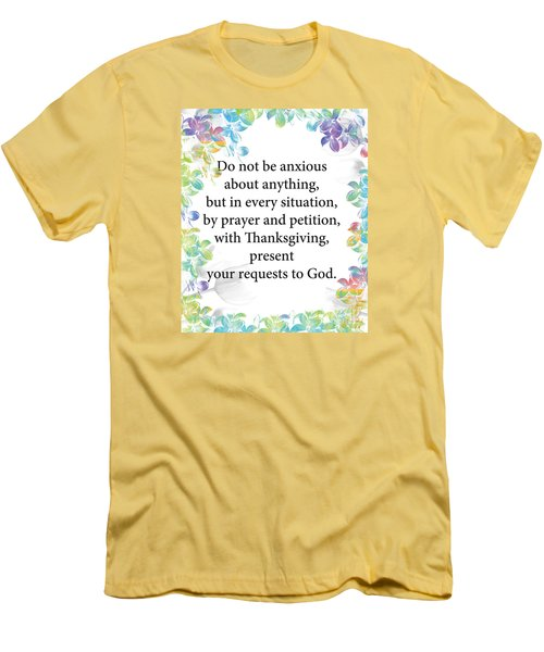Men's T-Shirt (Slim Fit) featuring the digital art God Is Over All by Trilby Cole