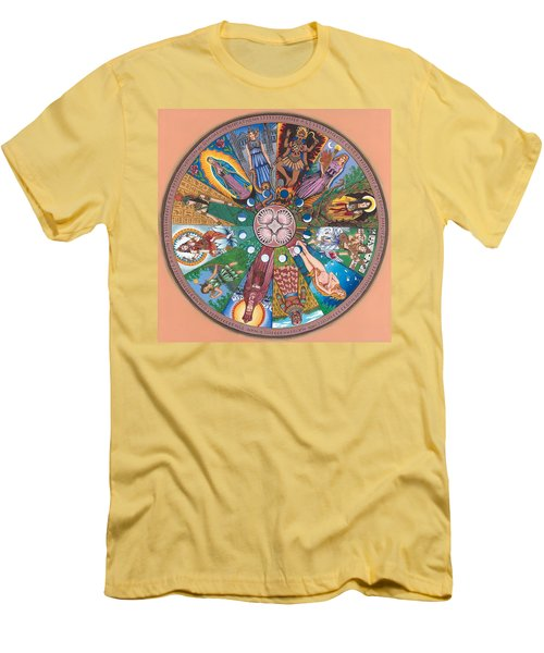 Goddess Wheel Guadalupe Men's T-Shirt (Athletic Fit)