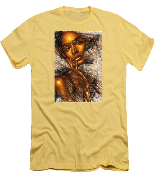 Gold Fingers Men's T-Shirt (Slim Fit) by Rafael Salazar