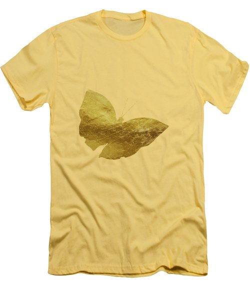 Gold Glam Butterfly Men's T-Shirt (Athletic Fit)